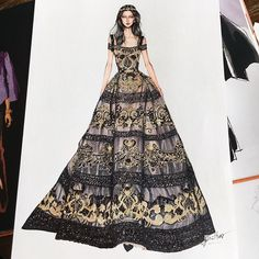 I love with this dress by @eliesaabworld haute couture fall 2017. #sketch #sketching #draw #drawing #fashion #fashionsketch #fashiondrawing #fashionillustrator #fashionillustration #fashionart #art #artwork #instaart #hautecouture #eliesaab #paris #parisfashionweek