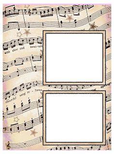 ArtbyJean - Vintage Sheet Music: Set 003 - Vintage Sheet Music Free Clipart Biege Tan - Scrapbook Layout Pages Vintage Sheet Music, Vintage Sheets, Tag Alphabet, Make Your Own Card, Digital Photo Frame, Music Paper, Printable Crafts, Printables, Parchment Craft