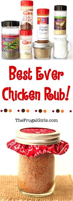 Best Ever Chicken Dry Rub Recipe! Also a great rub to use when cooking chicken on the grill!