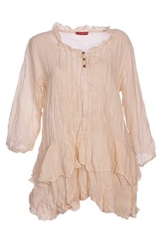 Ruffle hem tunic~~this looks so cool and comfortable - - and it's pretty, too!