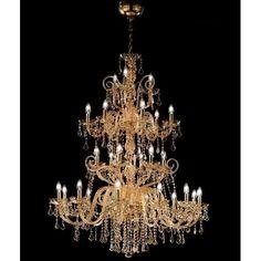 "Murano Glass Chandelier ""Maria Teresa"", drops, glass, crystal, beautigul, chandelier, original, venetian"