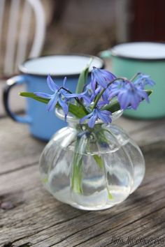 use glass - stems unclear in water - so change flowers