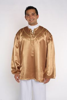 Plaquet Tunic with Rhinestones and Gold Decoration
