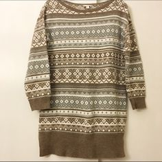 Gap fair isle sweater Gap fair isle sweater. EUC no signs of wear. Longer length, perfect to wear with leggings. GAP Sweaters