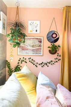 In just one year Katie Zamprioli has transformed her Los Angelesarea home into a fully decorated oasis where every inch is worth a closer look. Urban Outfitters Apartment, Urban Outfitters Room, Jungle Bedroom, Ivy Wall, Uni Room, College Room, Dorm Room, Purple Bedrooms, Butterfly Wall Decor