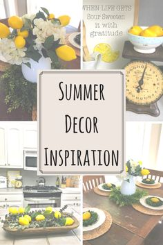 An easy and inexpensive way to add summer decor into your home.