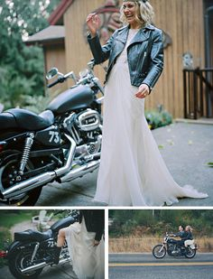 Motorcycle wedding inspiration from One Love Photo via Happiness Is