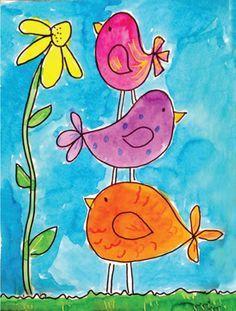 Spring Art Projects, Easy Art Projects, Art Project For Kids, Painting Ideas For Kids, Kids Painting Projects, Easy Art For Kids, Maple Leaf Drawing, Arte Elemental, Kids Watercolor