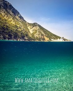 Evia island with its hidden treasures, have you ever visited Thapsa beach 🏖 ? Hidden Treasures, Beautiful Beaches, Greece, Paradise, Island, Mountains, Amazing, Water, Travel