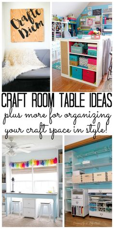 Craft Room Table Ideas And So Much More