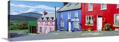 Premium Thick-Wrap Canvas Wall Art Print entitled Eyeries Village County Cork Ireland, None