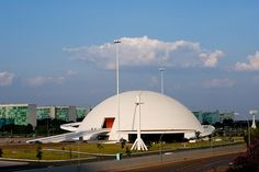 Republic Musem with official government buildings behind. Brasília, Distrito Federal, #Brazil