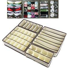 4 Pack Aufbewahrung Lösung Box Kleiderschrank Organizer Schublade Bra Socken BH in Möbel & Wohnen, Klein- & Hängeaufbewahrung, Boxen | eBay!