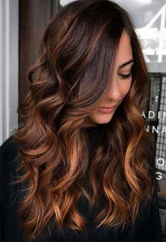 Brown Hair Color Shades, Hair Color For Black Hair, Brown Hair Colors, Dark Hair, Red Hair, Medium Hair Styles, Curly Hair Styles, Brown Hair Balayage, Dark Brown Hair Highlights