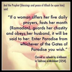 the ideal Muslimah ( #Islam, #Hadith )