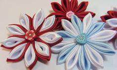 Como fazer Flores Kansashi de fita de cetim - http://www.comofazerascoisas.com.br/como-fazer-flores-kansashi-de-fita-de-cetim.html
