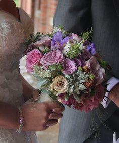 Flower Design Events: Bridal Bouquet in heathery purple shades