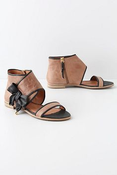 Tipped Bow Sandals #anthropologie