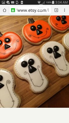 Easy pumpkin and skeleton head cookie