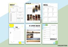 Stock template of Self-Motivation Planner Set. Search more similar templates at Adobe Stock Diy Planner, Planner Layout, Printable Planner, Flyer Layout, Photoshop, Adobe, Education Templates, Calendar Layout, Home Daycare