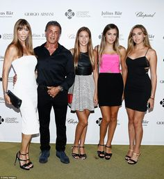We are family: Sylvester Stallone hit the event with his wife of 18 years Jennifer Flavin ...