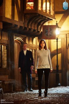 The death of Clara Oswald is eminent. This is just before she dies, the Doctor's last time with her.