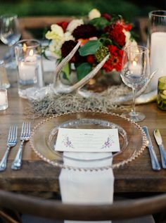 """In the Press: Karen + Brad's """"Napa Meets Hill Country"""" Wedding Wedding Vendors, Weddings, Place Settings, Fall Wedding, Wedding Ideas, Wedding Flowers, Reception, Table Decorations, Country"""