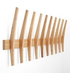 Brendon Farrell Fin Hook Rack is part of Living Room Scandinavian Hooks - Brendon Farrell Fin Hook Rack Oak 10 Fin