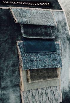 Collections Berbère Edition Berengere Leroy septembre 2017 velours lavés bleu canard et lin lavés Coastal Rugs, Dyi, Cool House Designs, Soft Furnishings, Color Trends, Pantone, Building A House, Velvet Cushions, Bedspreads