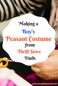 Costume making | Child costume making | Peasant costume | Sewing | Budget Sewing