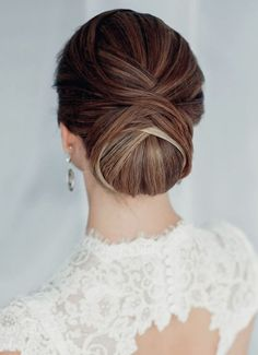30 Most-Pinned Beautiful Bridal Updos | Layered Twist