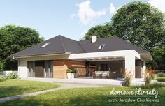 Projekt domu Bagatela 8 G2 130.91 m² - Domowe Klimaty Modern Bungalow House, Bungalow House Plans, Dream House Plans, House Floor Plans, Steel House, House Entrance, House Front, Door Design, Home Fashion