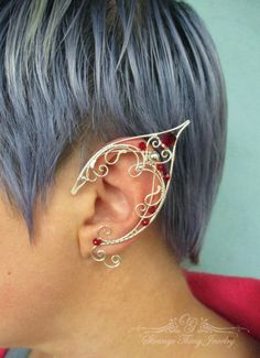 Pair of elf ear cuffs Betelgeuse by StrangeThingJewelry on Etsy