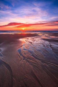 Balmedie beach Sunrise, Aberdeenshire, Scotland