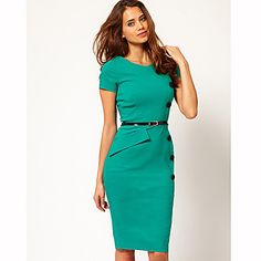 Women's New Fashion OL Ladies Dress Bodycon Slim Pencil Dress Evening Party Dress - USD $ 18.84