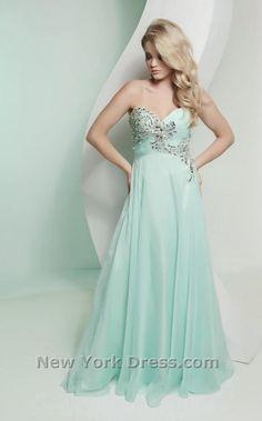 Light blue grad dress, so pretty!