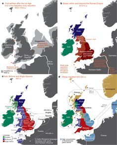 Who do you think you are? Most detailed genetic map of the British Isles reveals all Map Of Great Britain, Britain Map, Danish Vikings, Roman Britain, Tecno, British History, Uk History, History Facts, Scotland History