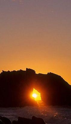 Pôr do Sol na Pedra Furada em Jericoacoara