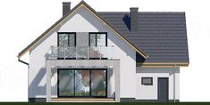 Projekt domu APS 184 NEW 132,2 m2 - koszt budowy - EXTRADOM Home Fashion, 1, Cabin, House Styles, Home Decor, Country Houses, Decoration Home, Room Decor, Cabins
