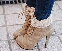 Cute Lace Up Ankle Boots
