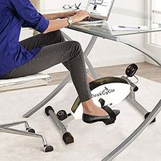 Burn calories, improve your health, mood and productivity while typing at your desk. The DeskCycle Desk Exercise Bike Pedal Exerciser is the answer.