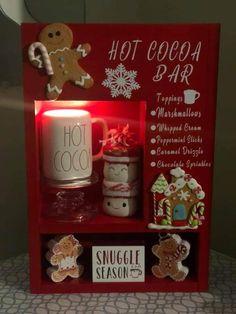 Gingerbread Christmas Decor, Gingerbread Decorations, Christmas Snowman, White Christmas, Christmas Home, Christmas Ideas, Xmas, Cocoa Tea, Hot Cocoa Bar