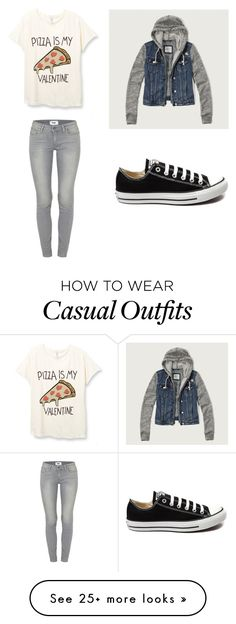 """just going casual"" by balloonbear on Polyvore featuring Paige Denim, Abercrombie & Fitch, Converse, women's clothing, women, female, woman, misses and juniors"