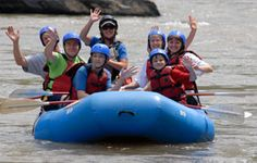 French Broad Rafting & Ziplines offers guided and unguided float trips and rentals on a calmer section of the French Broad River starting in Hot Springs, NC.
