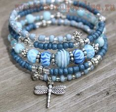 "DIY your photo charms, compatible with Pandora bracelets. Make your gifts special. Make your life special! Blue ""Denim"" Memory Wire Bracelet with Dragonfly Charm, Dragonfly Bracelet, Charm Bracelet Memory Wire Jewelry, Memory Wire Bracelets, Pandora Bracelets, Pandora Jewelry, Handmade Bracelets, Jewelry Bracelets, Handmade Jewelry, Jewellery Box, Jewellery Shops"