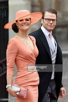 Crown Princess Victoria of Sweden and Prince Daniel of Sweden arrive to attend the Royal Wedding of Prince William to Catherine Middleton at...
