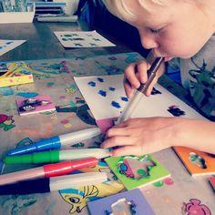 schilderijen maken met blaasstiften