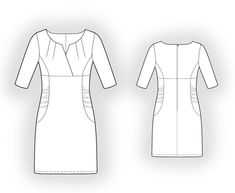 Dress  - Sewing Pattern #5860 Made-to-measure sewing pattern from Lekala with free online download.