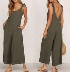 Fashion Halter Sleeveless Wide Leg Jumpsuit – yoyolike SPECIFICATIONS: Product Name Fashion Halter Sleeveless Wide Leg Jumpsuit Brand yoyolike SKU Gender Women Style Casual/Fashion Occasion Date Material Cotton Sleeve Sleeveless Decoration Plain Urban Fashion, Diy Fashion, Ideias Fashion, Fashion Dresses, Fashion Looks, Womens Fashion, Fashion Brands, Fashion Online, Space Fashion