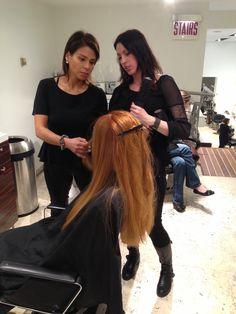 #mariomakemeamodel Semi-Finalist Ashley getting her Mario Tricoci makeover!